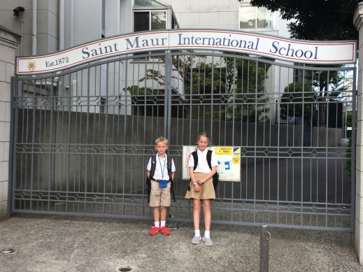 St. Maur International School's newest students and the end of their first successful day.