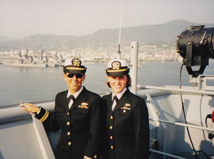 On USS Germantown in Sasebo, Japan