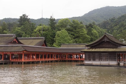 Itsukushima Shrine, at high...